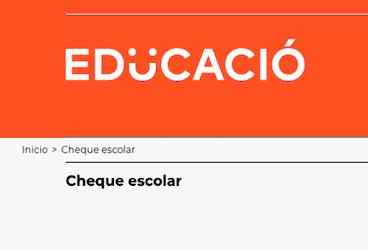 Cheque escolar 2020-2021